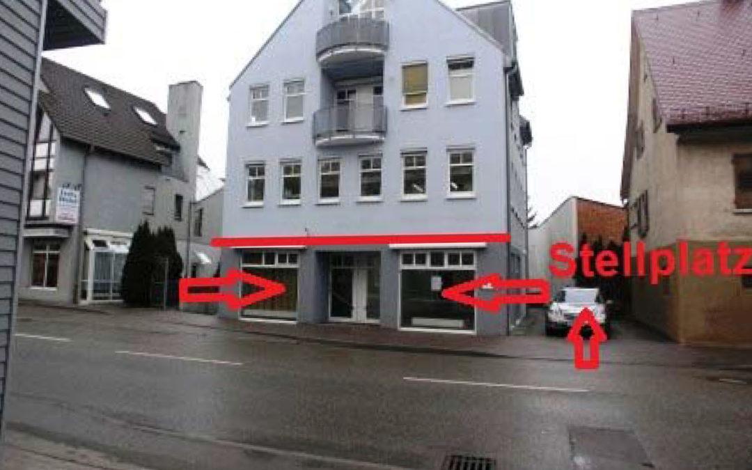 2 gepflegte Laden-/Büroeinheiten mit Schaufenstern, zentral in Korntal-Münchingen